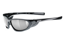 Uvex Sportbrille attack black shiny